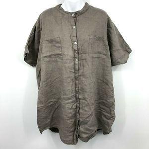 Tempo Paris Shirt L Mandarin Tunic Lagenlook